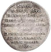 ⅛ Thaler - Johann Friedrich Carl von Ostein (Death; 1/8 Sterbetaler) – revers
