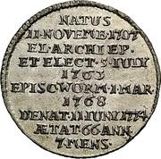 ⅛ Thaler - Emmerich Josef von Breitenbach (Death; 1/8 Sterbetaler) – revers