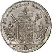 ½ Thaler - Emerich Joseph von Breitbach-Bürresheim (1/2 Konventionstaler) – revers