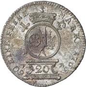 20 Kreuzer - Emerich Joseph von Breitbach-Bürresheim (20 Konventionskreuzer) – revers