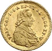 1 kreuzer Friedrich Karl Joseph (Frappe essai en or) – avers