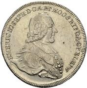 1 Thaler - Emmerich Joseph von Breitbach-Bürresheim (Konventionstaler) – avers