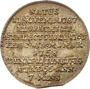 ⅙ Thaler - Emmerich Joseph von Breitbach-Bürresheim (Death) – revers