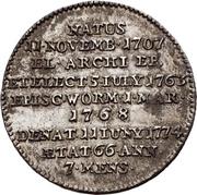 ⅓ Thaler - Emmerich Joseph von Breitbach-Bürresheim (Death) – revers