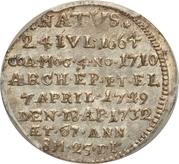 1 Groschen - Franz Ludwig (Mort de Franz Ludwig) – revers