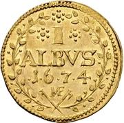 1 Albus - Lothar Friedrich von Metternich Burscheid (Gold pattern strike) – revers