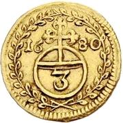 1 Dreier - Anselm Franz von Ingelheim (Gold pattern strike) – revers