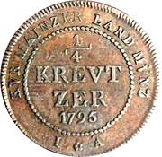 ¼ Kreutzer - Friedrich Karl Josef – revers