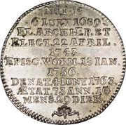 ¼ Thaler - Johann Friedrich Karl – revers