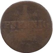 1 pfennig Emmerich Joseph de Breidbach-Bürresheim – revers