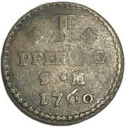 1 pfennig  Johann Friedrich Karl – revers