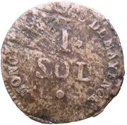 1 sol Friedrich Karl Josef (siege de Mayence) – revers