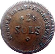 2 Sols - Friedrich Karl Josef  (siege de Mayence) – revers