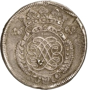 ⅔ Thaler (Siege coinage) – avers