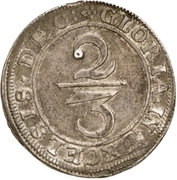 ⅔ Thaler (Siege coinage) – revers