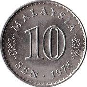 10 sen Agong – avers