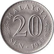 20 sen Agong – avers