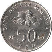 50 sen Agong -  avers