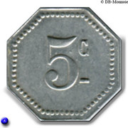 5 centimes - Ville de Malakoff - Malakoff  [92] – revers