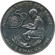 5 kwacha (Nations unies) – revers