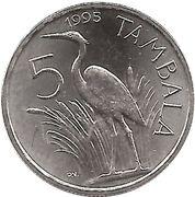 5 tambala – revers