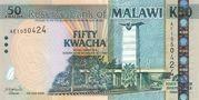 50 kwacha commemorative note – avers