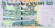 50 kwacha commemorative note – revers