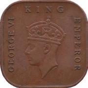 ½ cent (George VI) – avers