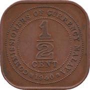 ½ cent (George VI) – revers
