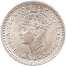 5 cents - George VI  – avers