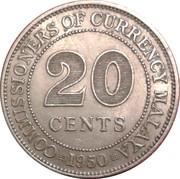20 cents (George VI) – revers