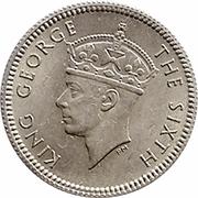 5 cents (George VI) – avers