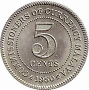 5 cents (George VI) – revers