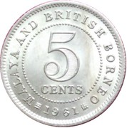 5 cents (Elizabeth II) – revers