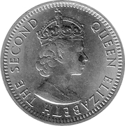 10 cents - Elizabeth II (1ere effigie) -  avers