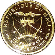 100 francs (10 years palladium mapple leaf) – avers