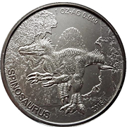 1000 francs CFA (Spinosaurus) – revers