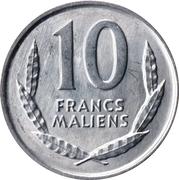 10 francs maliens – revers