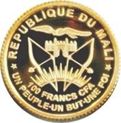 100 francs CFA (Richard von Weizsäcker) – avers