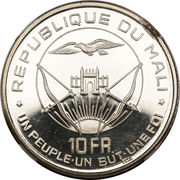 10 francs (Indépendance, Piéfort Essai) – avers