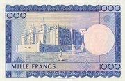 1000 Francs -  revers
