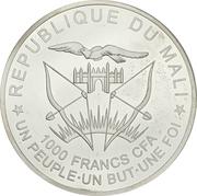 1000 Francs CFA (San José) – avers