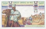 500 FRANCS  MALI – revers