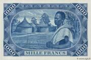 1 000 Francs – revers