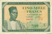 5 000 Francs – avers