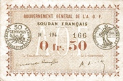 50 Centimes (French Sudan) – avers