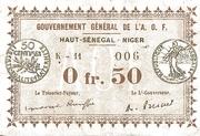 50 Centimes (Upper Senegal & Niger) – avers
