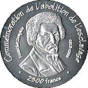 2500 Francs (Abolition de l'esclavage) – revers