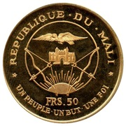 "50 francs (President Modibo Keita; ""1967"") – avers"