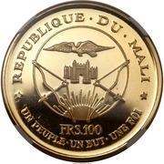 "100 francs (President Modibo Keita; ""1967"") – avers"